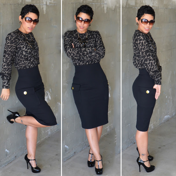 Image of DIY High Waist Pencil Skirt