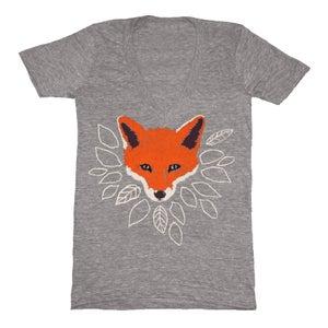 Image of V-Neck Gray Fox