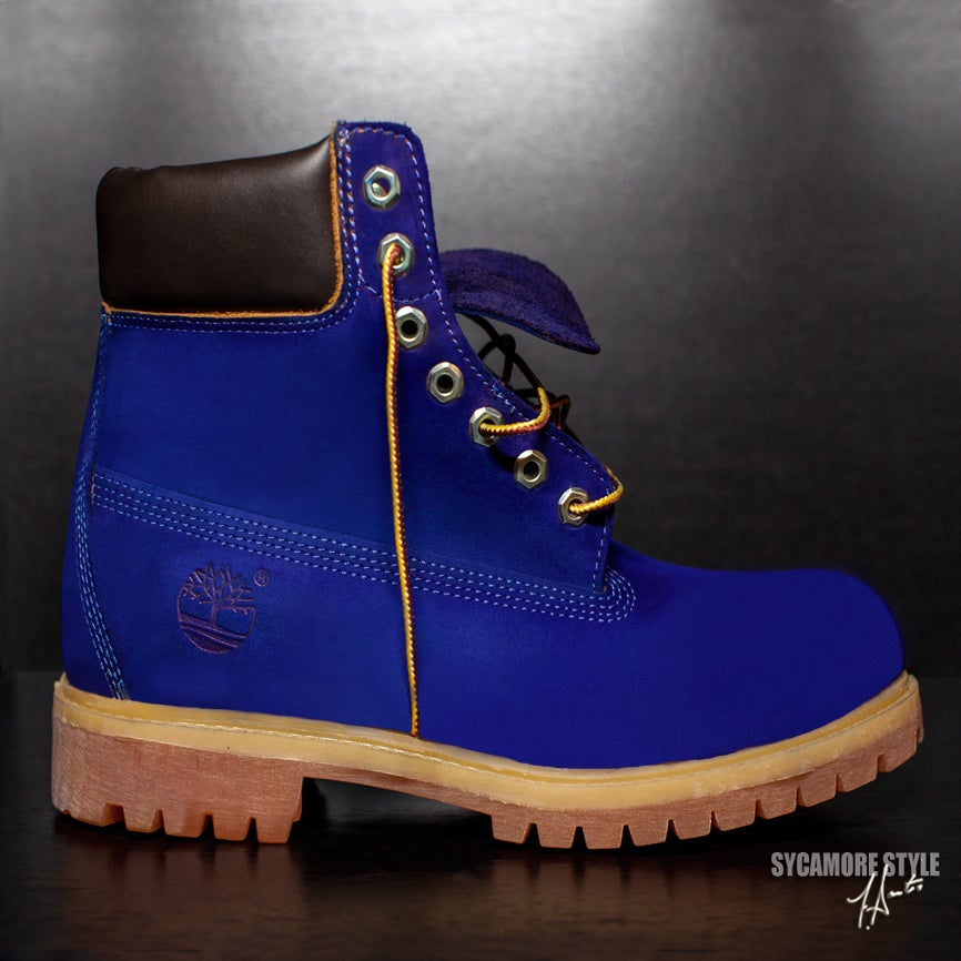 Blueberry quot sycamore style custom dyed timberland boot sycamore