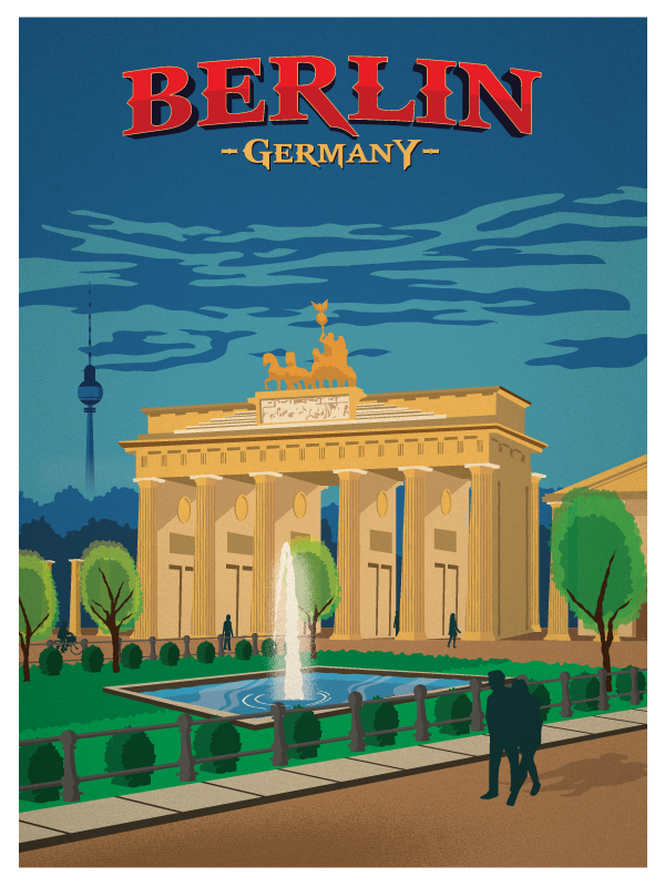 ideastorm studio store vintage berlin poster. Black Bedroom Furniture Sets. Home Design Ideas