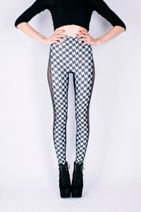 Image of CELINE Leggings in HOUNDSTOOTH Digital Print