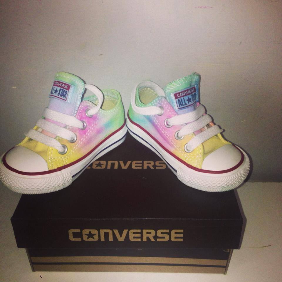 Image of Infant and junior pastel tiedye converse