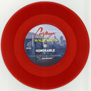 "Image of Cormega featuring Raekwon ""Honorable"" Transparent Red 7"" (Limited 500 piece pressing)"