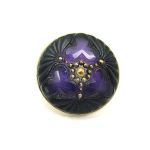 Image of Lady Luck Vintage glass Cocktail Ring