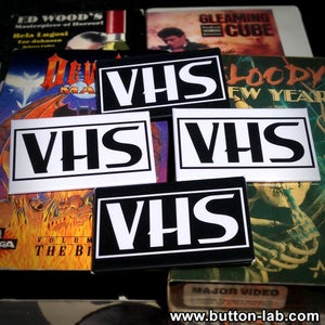Image of VHS Logo Buttons/Magnets