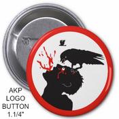 "Image of AKP LOGO - CROW/MAN - PIN BUTTON 1.1/4"""