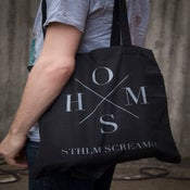Image of HOMS tote bag / Front and back print