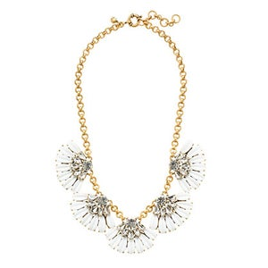 Image of Daisy Petal White Statement Necklace