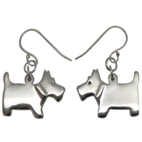 Image of SCOTTIE DOG EARRRINGS - STERLING SILVER