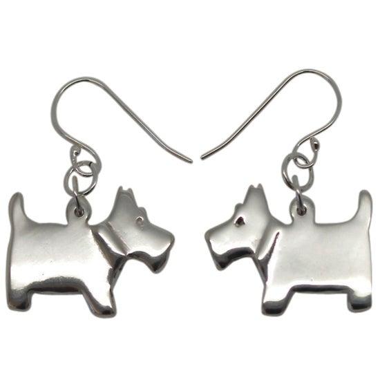 Image of SCOTTIE DOG EARRRINGS - STERLING SILVER