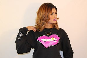 Image of Hu$tle Lips Crew Neck