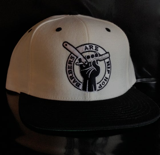 Image of White and Black Barbers Are Hip Hop Snapback Hat