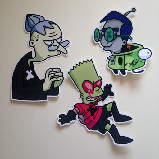 Image of Invader Zimpson Sticker Pack