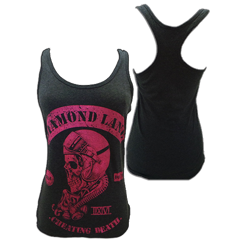 """Image of Women's """"Cheating Death"""" Tank Top - Grey & Pink"""