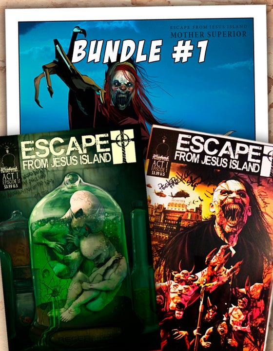 "Image of Bundle #1 - Autographed Comics + 8""x10"" Print"