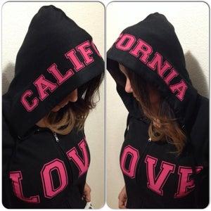 Image of Ladies - California Love Black Zip up hoody
