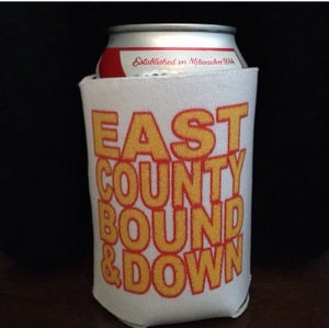 Image of Block letter coozie