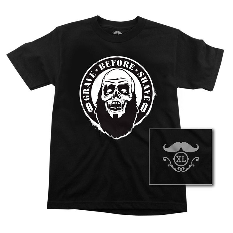 Image of GRAVE BEFORE SHAVE Zombie Tee/ Beard Oil combo