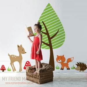 Image of Woodland Friends Wall Decal Sticker