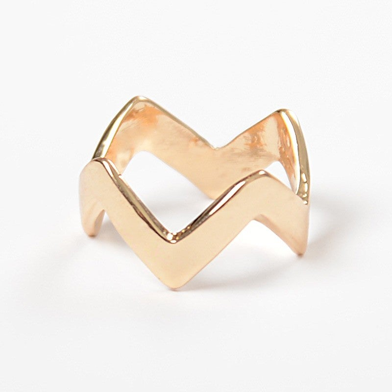 Image of Single Gold Chevron Ring