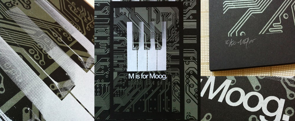 """Image of """"M is for Moog"""" Art Print for Moogfest"""