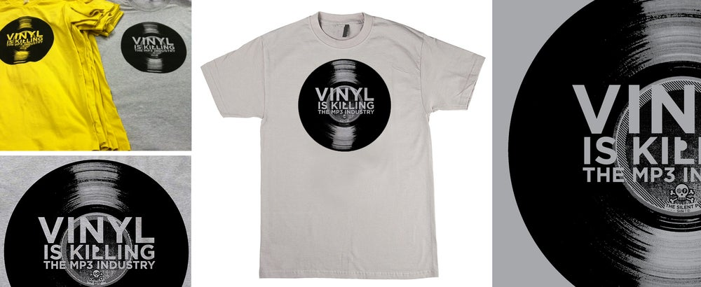 """Image of """"Vinyl is Killing the MP3 Industry"""" T-Shirt"""