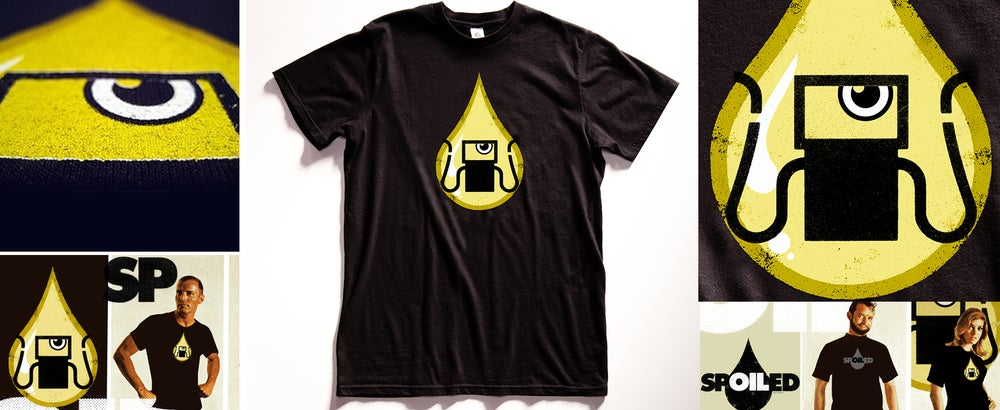 """Image of """"Gas Tank Oil Monster"""" Graphic T Shirt"""