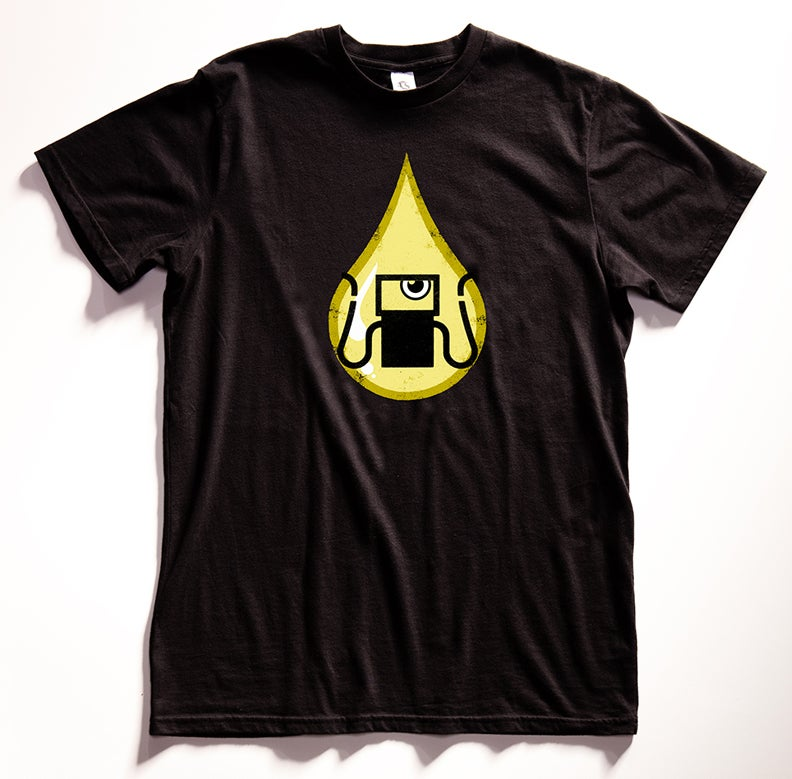 "Image of ""Gas Tank Oil Monster"" Graphic T Shirt"