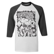 "Image of CAUGHT IN A TRAP ""NYHC"" 3/4 Sleeve Jersey"
