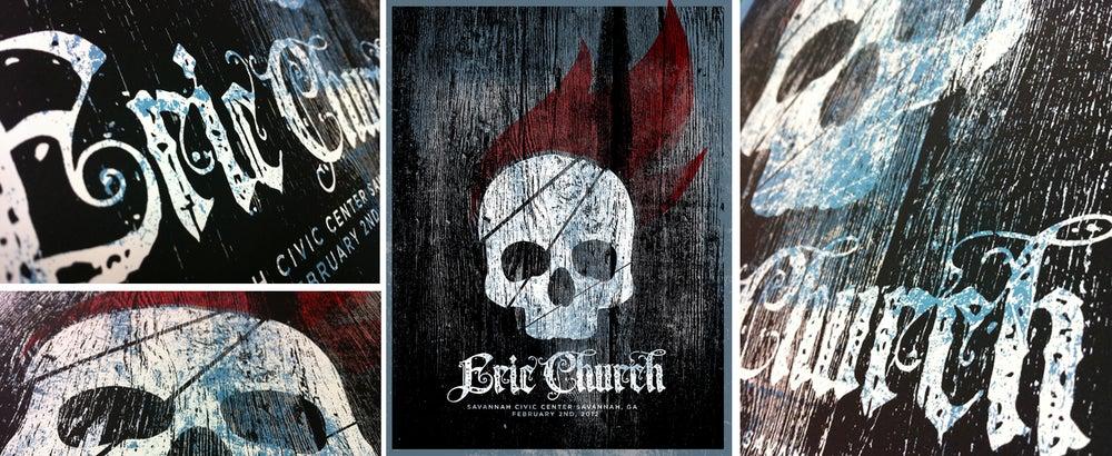 Image of Eric Church: Savannah, GA Poster