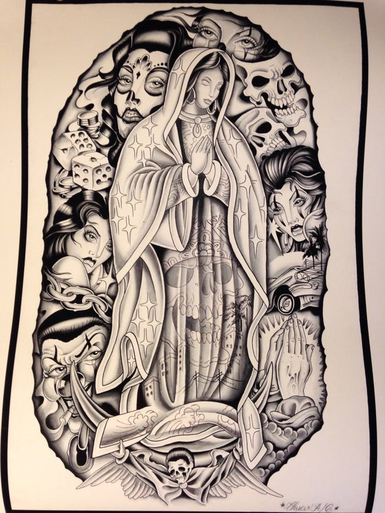 "Image of ""Virgin Mary"" 16"" X 20"" Fine Art Print"