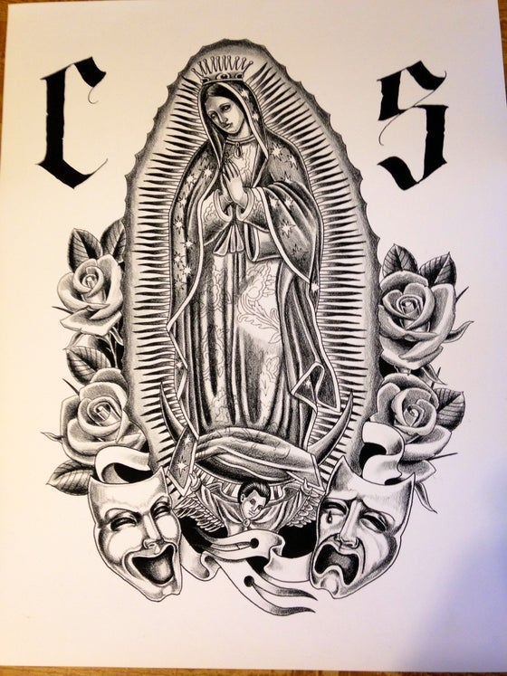 "Image of ""Virgin Mary 2nd Edition"" 16' X 20"" Fine Art Print"