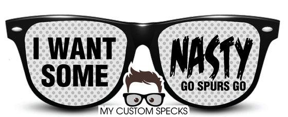 Image of My Custom Specks San Antonio Spurs I Want Some Nasty