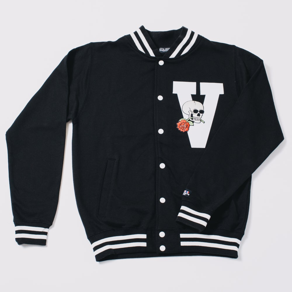 Image of Black Midnight Madness Varsity Jacket