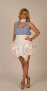 Image of IRIDESCENT FOLDED TRIANGLE DRESS.
