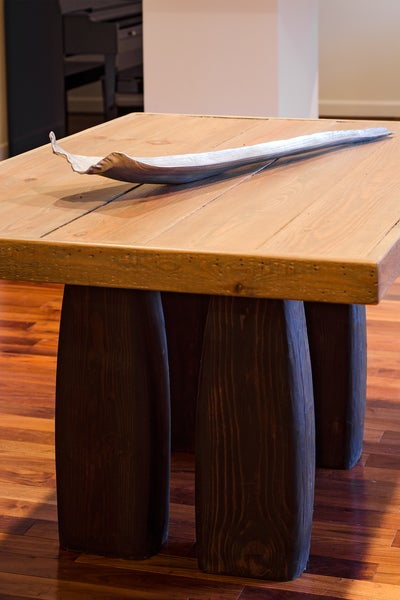 Image of Pillar 7' dining table