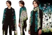 "Image of ""Ivy"" Print Wool Shawl/Scarf"