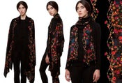 "Image of ""Baroque""Print Wool Shawl/Scarf"