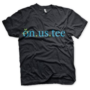 Image of on.us.tee: Black on.us.tee Edition (Unisex)