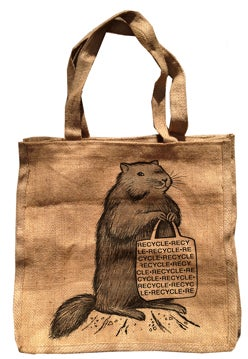 "Image of ""Mr. Chuck"" -- 100% Recycled Burlap Bag"