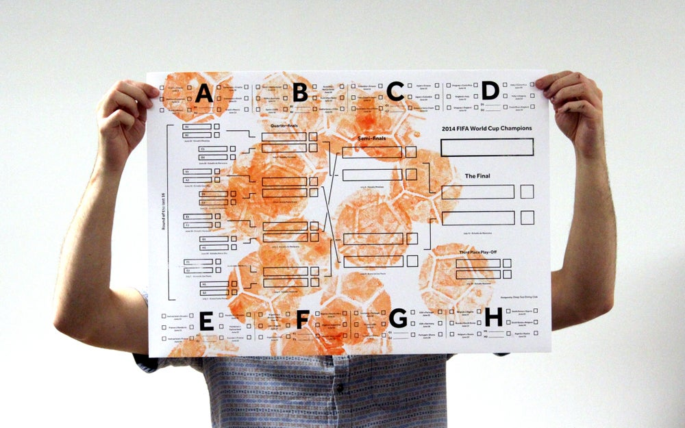 Image of World Cup Wall Chart – Orange