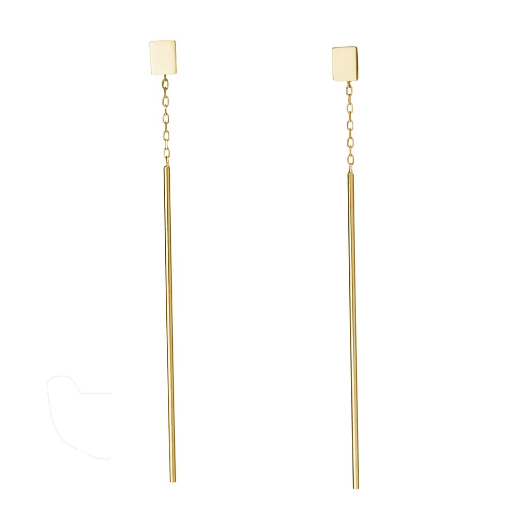 Image of AN.NO Square Pin Earring 18 carat gold