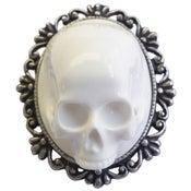 Image of Framed Skull Brooch