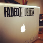 Image of 2014 Faded Industry Sticker