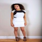 Image of White Jeweled Dress