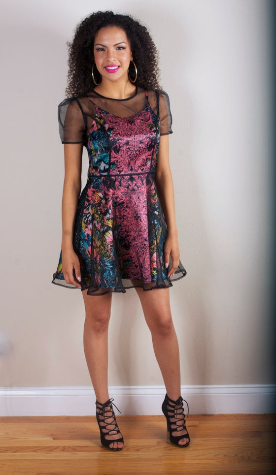 Image of Sheer Party Dress