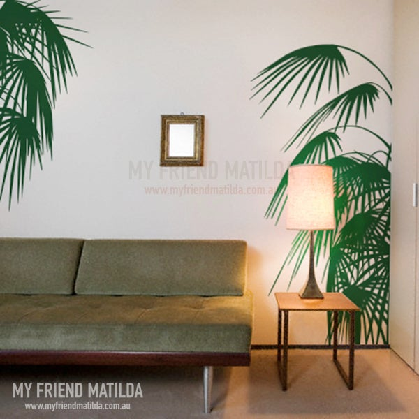 Palm Leaves wall decal tropical accent ? Removable Wall ...