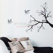 Image of Vinyl Wall Sticker Decal Art - Spring Time - birds on branch