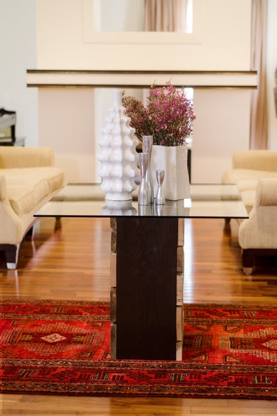 Image of Morgan 7' double trestle dining table