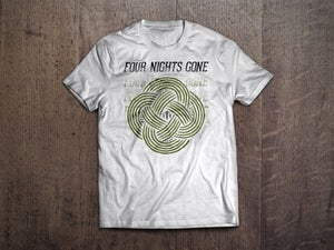 Image of Four Nights Gone Circle Design Tshirt